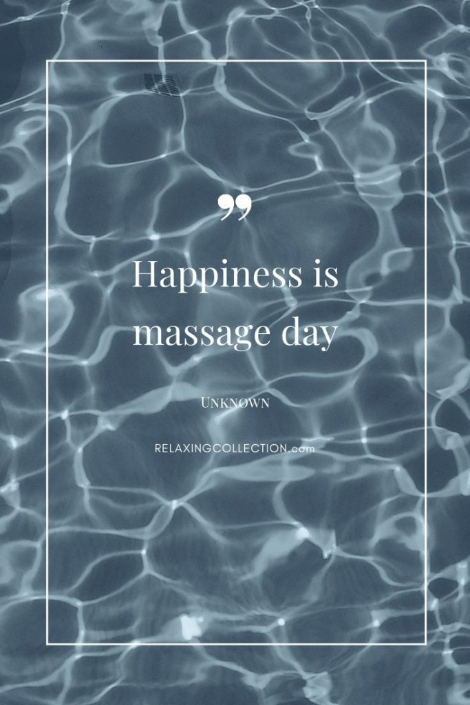 Happiness is massage day